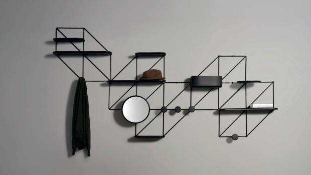 Espelho modular Zodiac, do designer italiano Luca Nichetto, traz linhas aliadas ao conceito do hibridismo (Foto: Divulgação)