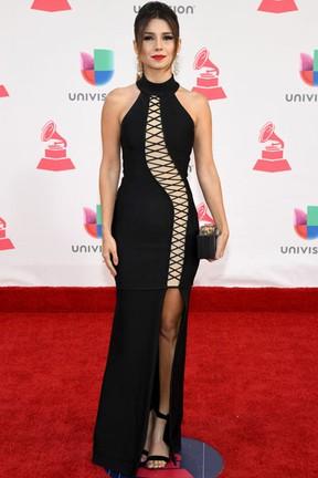 Paula Fernandes em prêmio de música em Las Vegas, nos Estados Unidos (Foto: Ethan Miller/ Getty Images/ AFP)