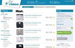 Rabixo permite que usuário escolha as cuecas que quer receber a cada três meses (Foto: Reprodução)
