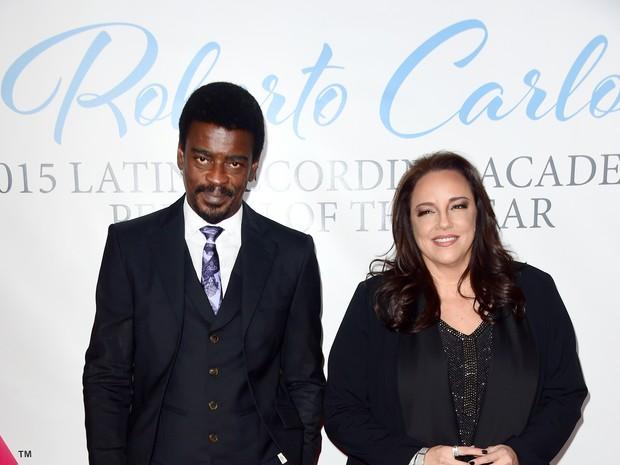 Seu Jorge e Ana Carolina em prêmio de música em Las Vegas, nos Estados Unidos (Foto: Frazer Harrison/ Getty Images/ AFP)