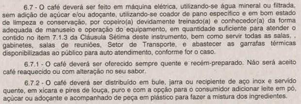 Trecho de contrato da Secretaria de Aviação Civil (Foto: Reprodução)