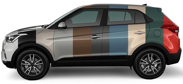 Hyundai Creta tem 10 opções de cores (Foto: Divulgação)