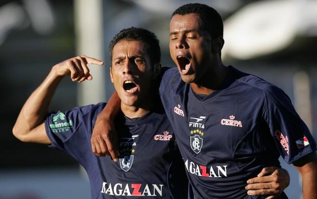 Maurílio e Capitão marcaram os gols que deram o título da Série C ao Remo (Foto: Carlos Silva)