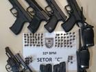 PM apreende armas após denúncia de possível confronto entre facções