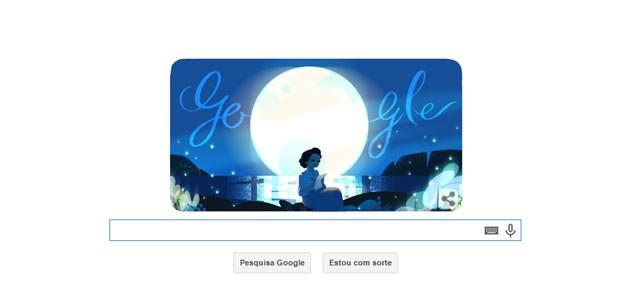 Doodle celebra os 113 anos do nascimento da poeta Cecília Meireles (Foto: Reprodução/Google)
