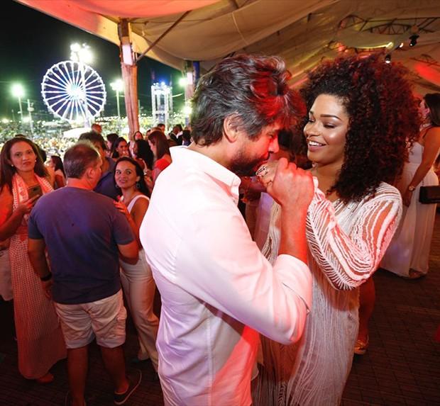 Juliana Alves e o marido, Ernani Nunes (Foto: Ricardo Cardoso/ Ed. Globo)