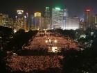 Dezenas de milhares lembram vítimas de massacre chinês em 1989