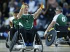 Príncipe Harry participa de jogo de rugby em cadeira de rodas