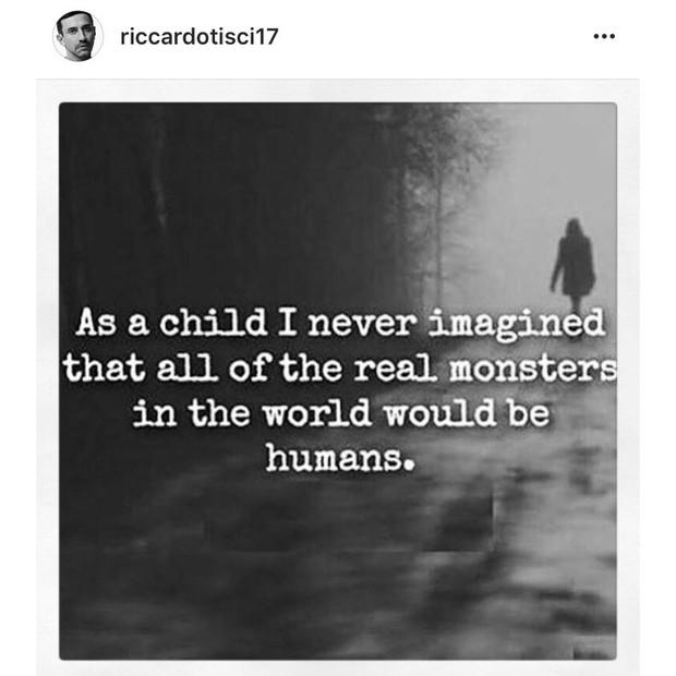 """Riccardo Tisci: """"Quando eu era criança, eu nunca imaginei que todos os verdadeiros monstros do mundo seriam humanos"""" (Foto: Instagram/Reprodução)"""