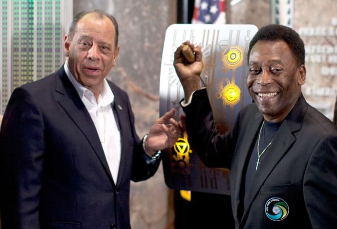 Pele e Carlos Alberto Torres New York (Foto: Agência Reuters)