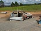 Idoso é encontrado carbonizado dentro de carro em estrada de Buri
