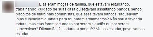 comentário (Foto: Reprodução/Facebook)