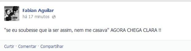 Fabian Aguilar, marido de Clara (Foto: Facebook/ Reprodução)