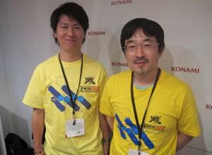 Kei Masuda e Naoya Hatsumi, desenvolvedores de 'PES 2013', conversaram com o G1 (Foto: Gustavo Petró/G1)