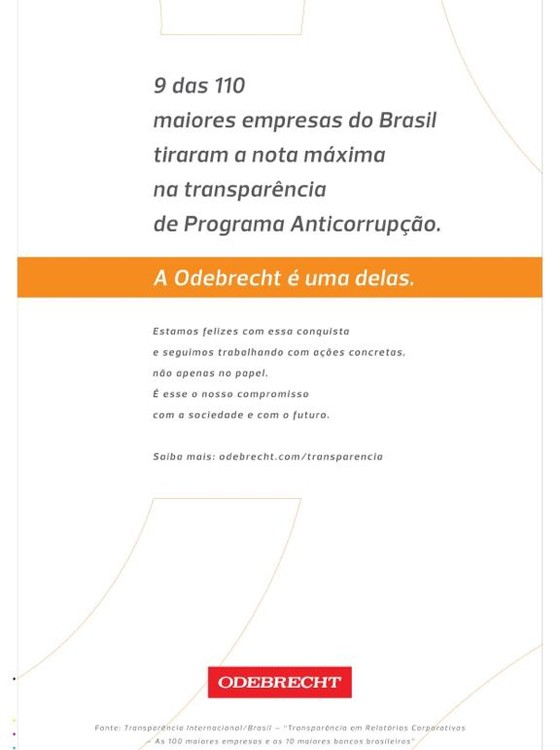 Odebrecht se vangloria de programa anticorrupção (Foto: Reprodução)