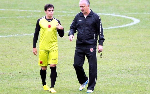 Fagner e Dorival Junior treino Vasco (Foto: Cezar Loureiro / Agência O Globo)