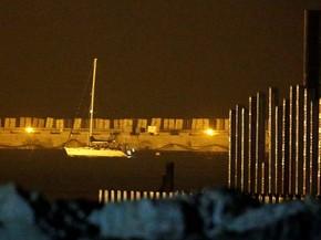 Barco Zaytouna-Oliva levava 13 mulheres com ajuda para Faixa de Gaza. Embarcação foi interceptada por Israel (Foto: Amir Cohen/ Reuters)