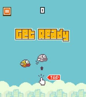 Jogador precisa apenas dar toques na tela para fazer passaro voar, mas o que parece simples é uma tarefa muito complicada ao se jogar 'Flapy Bird' (Foto: Divulgação/.Gears)