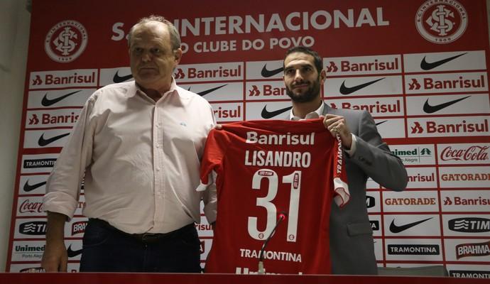 Lisandro López Inter Internacional apresentação (Foto: Diego Guichard/GloboEsporte.com)