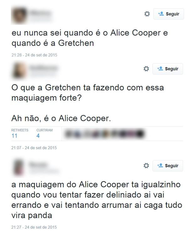 Comentários sobre Alice Cooper no Rock in Rio (Foto: Reprodução / Twitter)