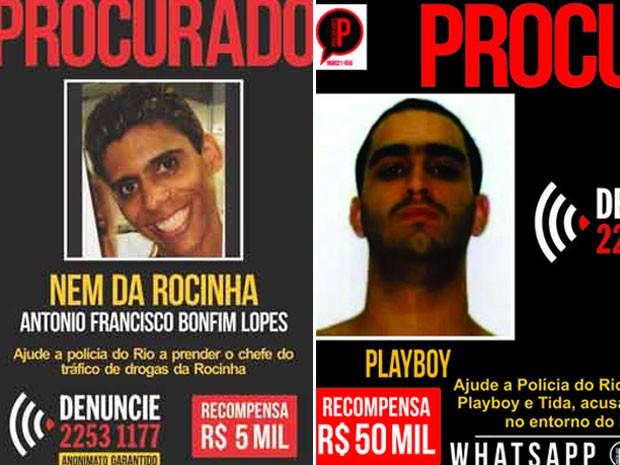 Disque-Denúncia ajudou na captura de Nem da Rocinha e Playboy (Foto: Reprodução/Disque-Denúncia)