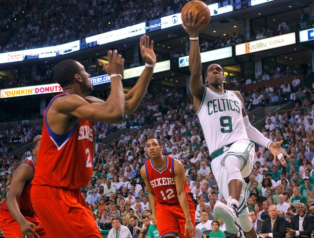 basquete nba rajon rondo celtics 76sixers (Foto: Agência Getty Images)