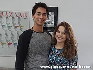 No set de gravação com Gabriel Falcão (Foto: Malhação / TV Globo)