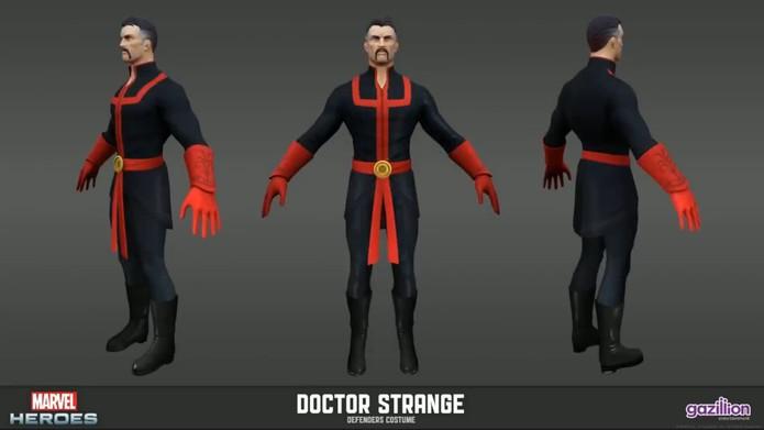 Doutor Estranho com seu uniforme secundário (Foto: Reprodução/Felipe Vinha)