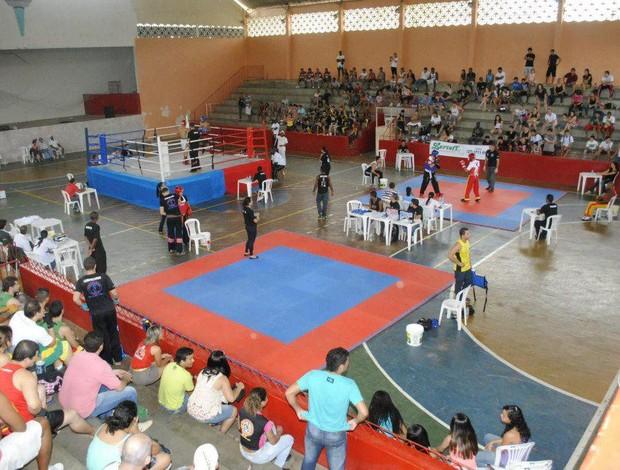 Primeira etapa do Capixaba de kickboxing aconteceu no mês de abril, em Colatina (Foto: Divulgação/Fekes)