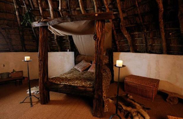 A cama da cabana (Foto: Upcott Roundhouse/Divulgação)
