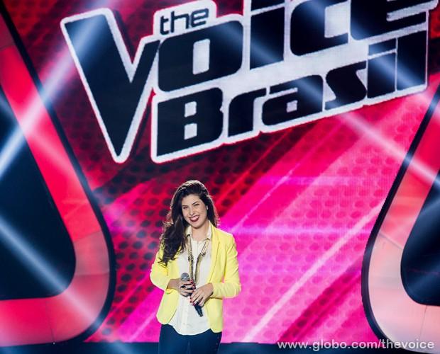 Bruna Góes canta na terceira Audição às Cegas (Foto: Isabella Pinheiro/TV Globo)