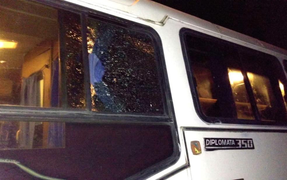 Ônibus com universitários é alvo de assaltantes no sul da Bahia (Foto: Tarcísio Cruz/Arquivo Pessoal)