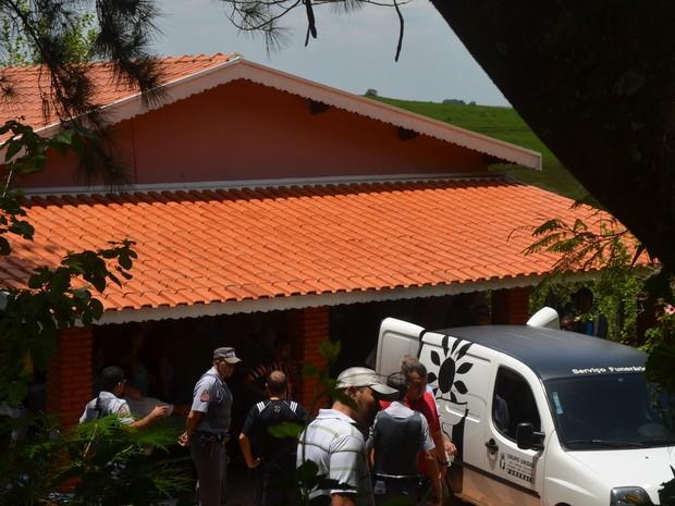 Policial Militar é morto em sua residência em São Pedro (Foto: Fernanda Zanetti/G1)