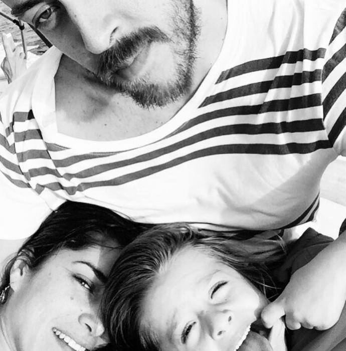 Priscila Fantin, Renan Abreu e o filho Romeo (Foto: Arquivo Pessoal)