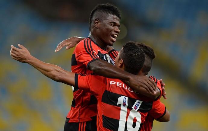 comemoração Flamengo x Madureira (Foto: Alexandre Vidal / Flaimagem)