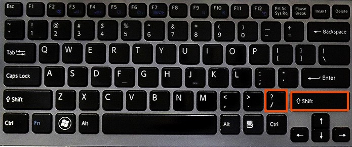 Adicionando interrogação e exclamação no teclado estrangeiro (Foto: Reprodução/Barbara Mannara)