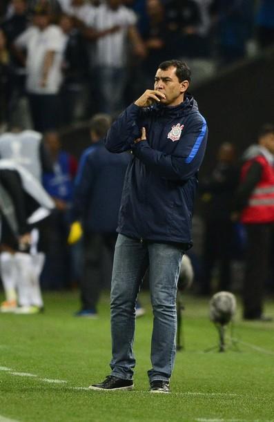 Técnico Fábio Carille durante Corinthians x Patriotas (Foto: Marcos Ribolli)