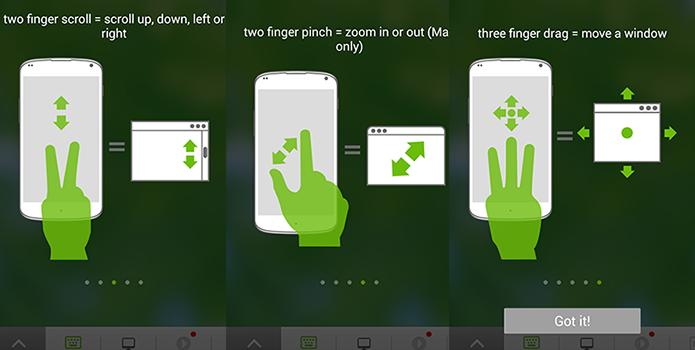 É possível dar zoom, rolar página e mover janela pela tela do celular (Foto: Reprodução/Paulo Alves)
