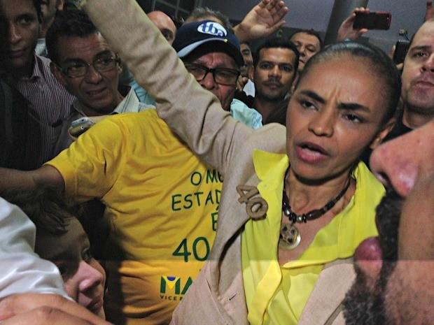 Marina Silva acredita que estará no segundo turno  (Foto: Caio Fulgêncio/G1)