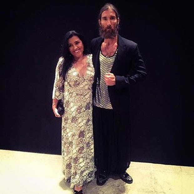 Regina Casé e amigo no casamento de Paulo Gustavo no Rio (Foto: Instagram/ Reprodução)