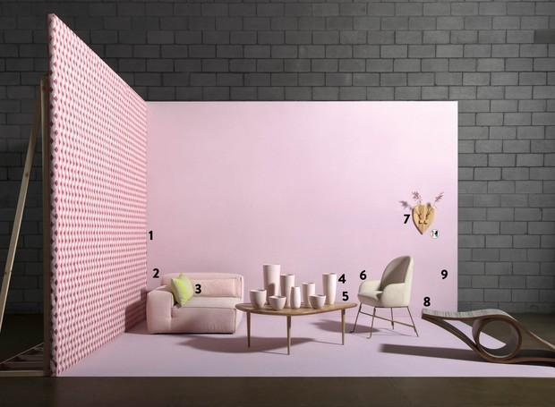 Ambiente minimalista rosa (Foto: Carlos Cubi / Editora Globo)