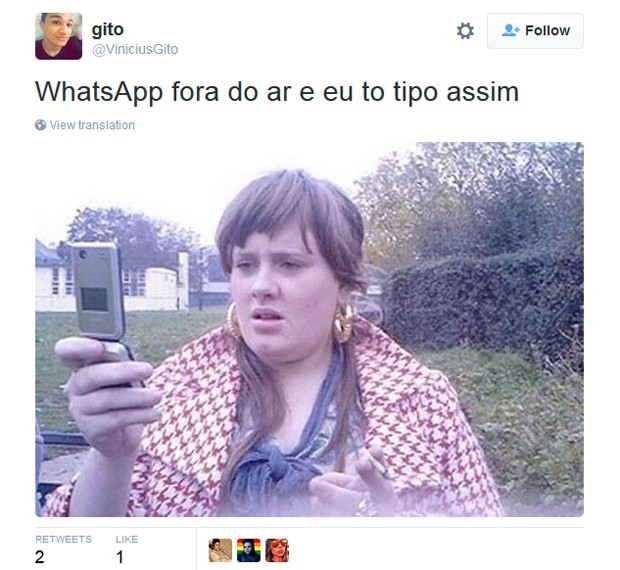 Bloqueio do Whatsapp virou tema das redes sociais nesta quarta-feira (16) (Foto: Reprodução / Twitter)