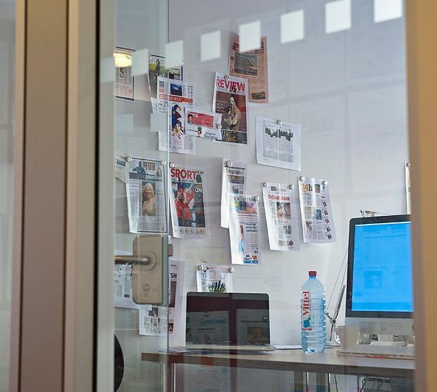 A tinta com ímã também pode ser prática no escritório (Foto: Divulgação)