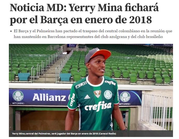 Mina Palmeiras Barcelona capa jornal (Foto: Reprodução)