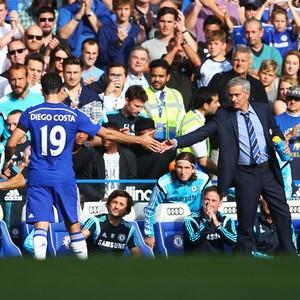 Diego Costa chelsea e José Mourinho Swansea City  (Foto: Agência Getty Images)