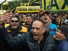 Taxistas voltam a fechar centro de Buenos Aires em protesto contra Uber