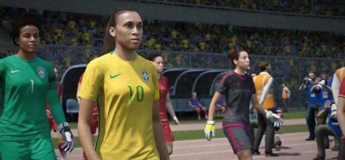 Fifa 16 finalmente recebeu seleções femininas (Foto: Reprodução/TechTudo)