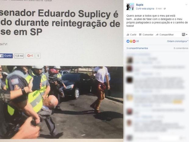 Cantor Supla fez post no Facebook sobre detenção do pai, Eduardo Suplicy (Foto: Reprodução/Facebook)