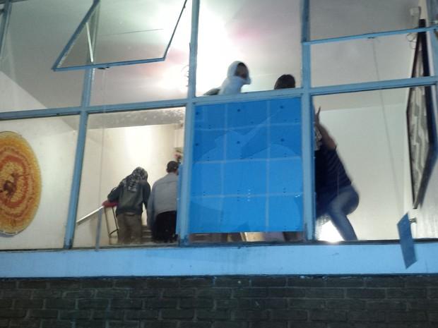 Estudantes ocuparam prédio da reitoria da Unicamp (Foto: Fernando Pacífico / G1)