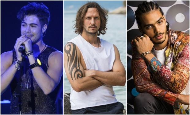 Rafael Vitti, Vladimir Brichta e Enzo Romani estão no elenco de Rock Story (Foto: João Miguel, César Alves e João Cotta/Globo)